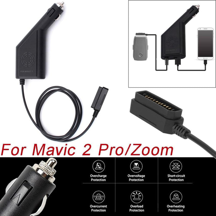 USB Car Charger 2 in1 For DJI Mavic 2 - DroneX - Discover the World of Drones