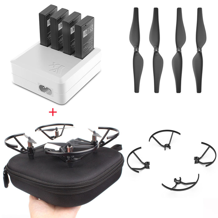 DJI TELLO 4in1 Multi Battery Charging Hub + Carrying Case + Quick-Release Propellers Propeller+guard - DroneX - Discover the World of Drones