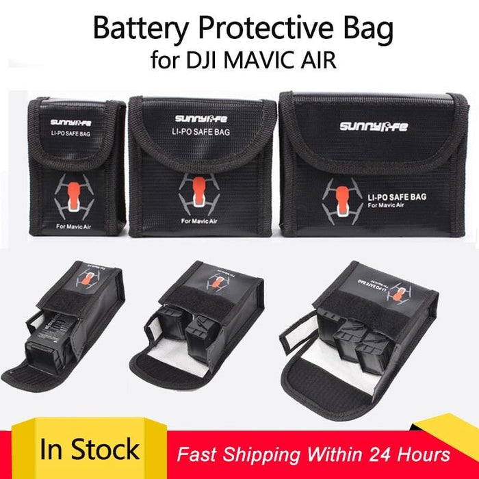LiPo Safe Bag Battery Protective Bag Explosion-proof Storage Bag for DJI MAVIC AIR Battery - DroneX - Discover the World of Drones