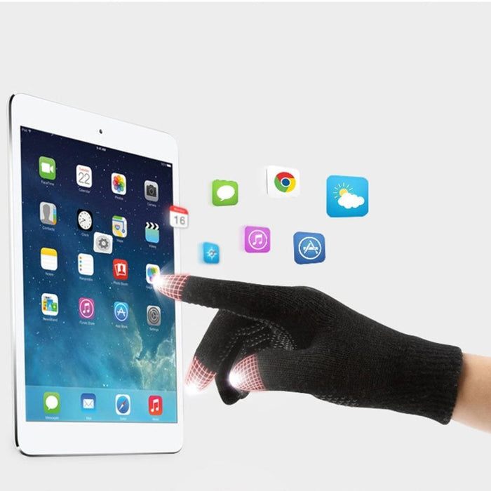 Women Men Touch Screen Winter Glove Solid Color Cotton Gloves - DroneX - Discover the World of Drones