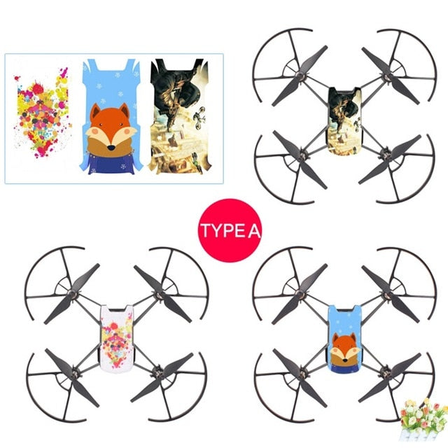 3pcs  Waterproof PVC Stickers Body Decals for DJI TELLO Drone - DroneX - Discover the World of Drones