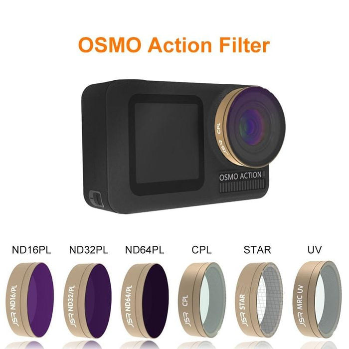 Osmo Action Filter ND 4 8 16 32/CPL/UV/Star Optical Glass Lens Filters Set