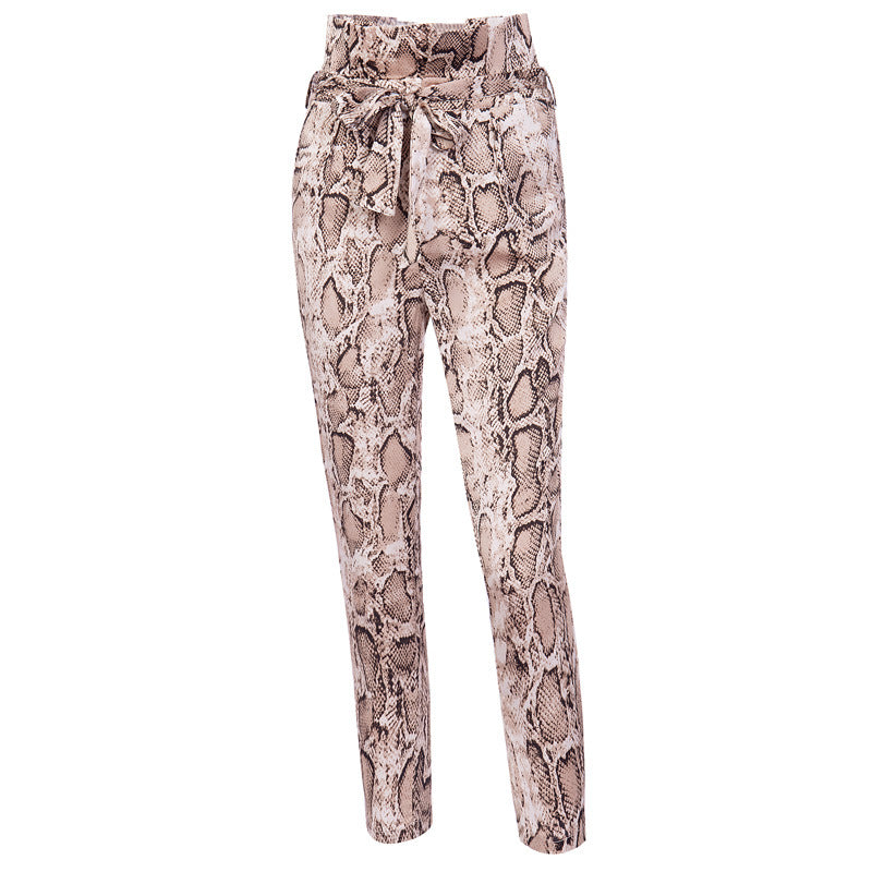 Sexy Serpentine Printing Trousers