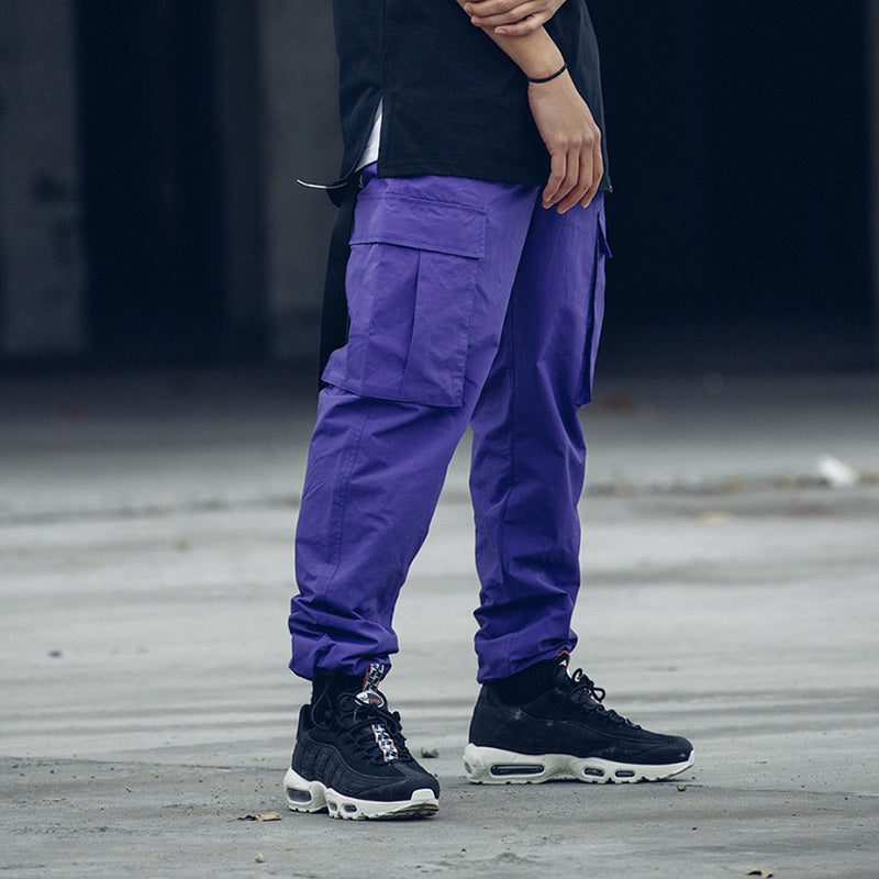 Fitted Bottoms Streetwear Pocket Pant