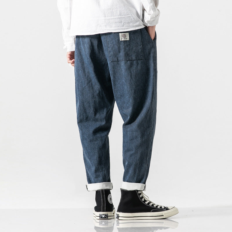 New Chinese Style Streetwear Jeans