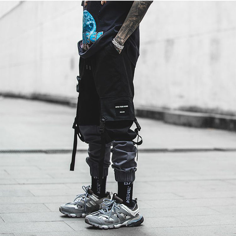 New Fashion Streetwear Stitching Color Joggers