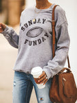 New Design Sunday Funday Football Sweatshirts