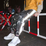 Cartoon Head Reflective Harem Pants