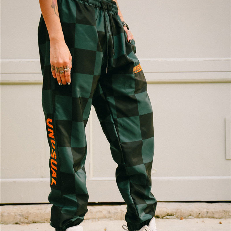 Vintage Embroidery Plaid Harem Pants