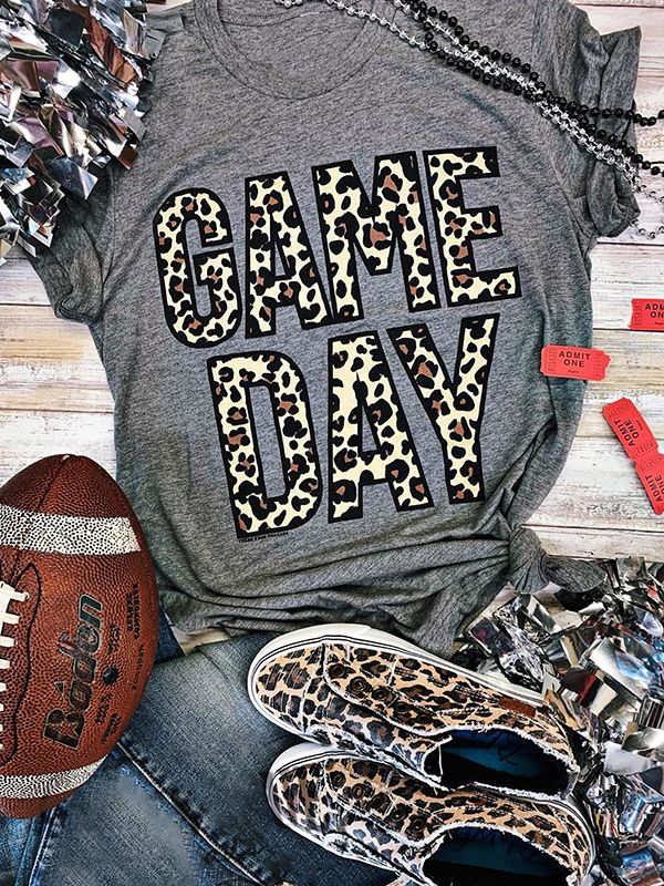 Leopard Game Day T-shirts
