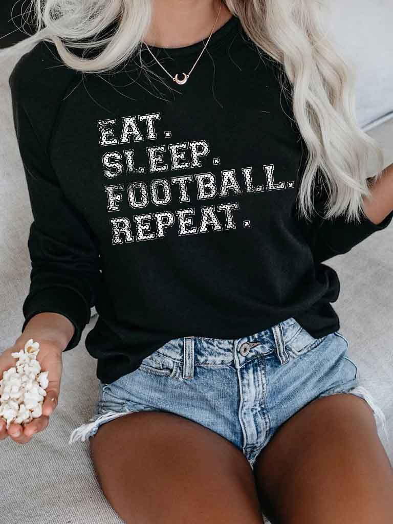 Football Repeat Pullover