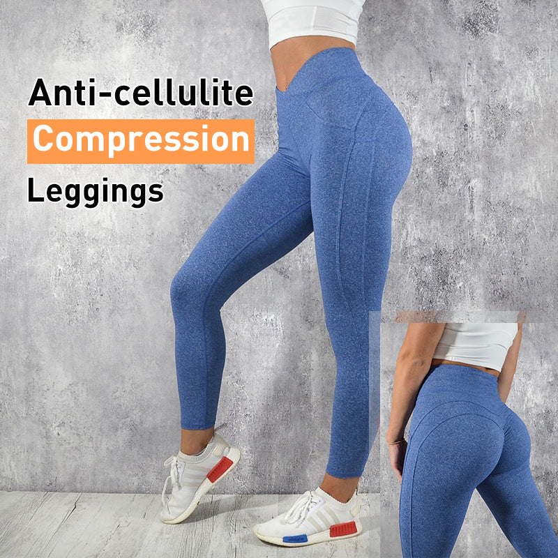 Anti-Cellulite Compression Energy Seamless Sexy Push Up Leggings