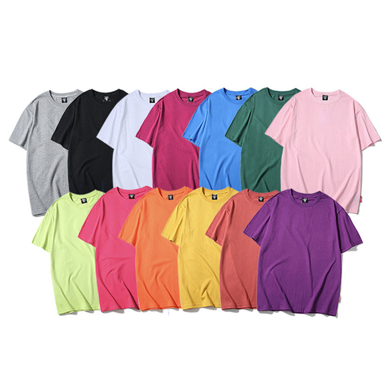 2019 Unisex Fashion  Solid Color T-shirt (13 Colors Available)