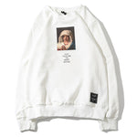 Virgin Mary Letter Print Sweatshirt