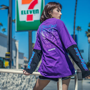 Letter Printed Patchwork Long Sleeve T Shirts