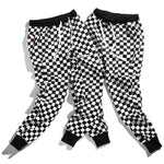 Plaid Checkerboard Pants Fleece Thick Trousers