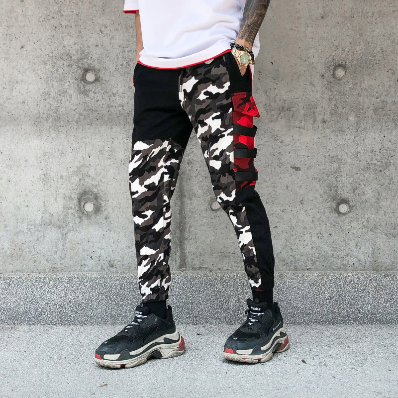 Colorblock Camo Pants