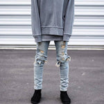 Slim Fit Destroyed Torn Jeans