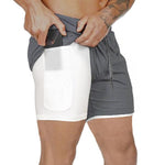 2019 Men's 2 in 1 New Summer Secure Pocket Shorts