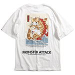 Monster Cat T-Shirts Harajuku Japan Style