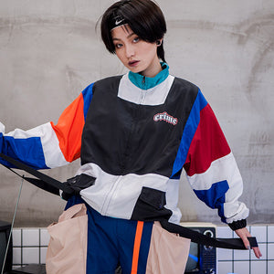 Unisex Vintage Color Block Jacket