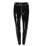 Lady PU leather Pencil Pants