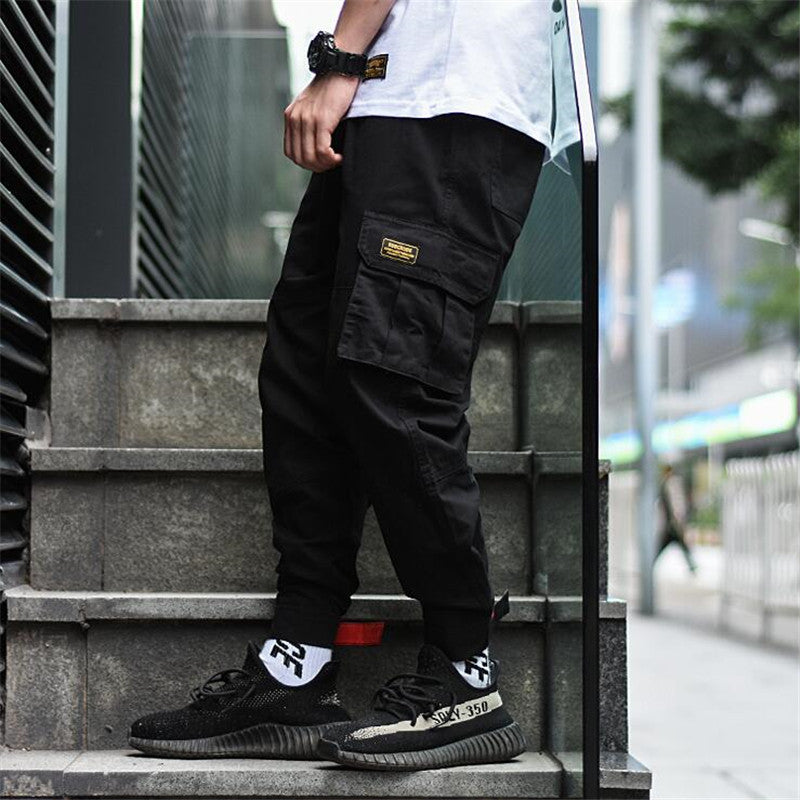Stretch Pockets Hip Hop Ankle-length Joggers