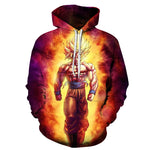 3D Anime Hoodies Dragon Ball Z Kid Goku Pocket Hooded Sweatshirts