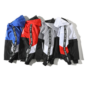 2018 New Color Block Pullover Jacket Fashion Tracksuit