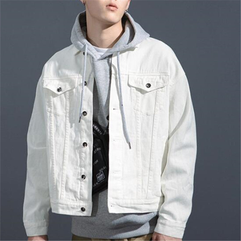HipHop Vintage Washed Denim Jacket(4 Colors)