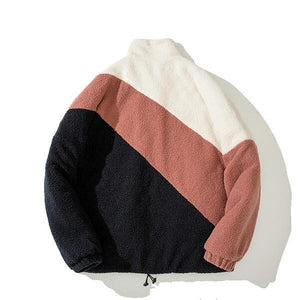 Embroidery Color Block Cashmere Jackets