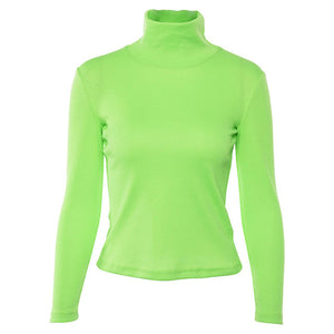 Fluorescence Turtleneck Sweatshirts