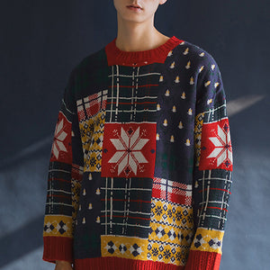 Retro Embroidered Knitted Sweater