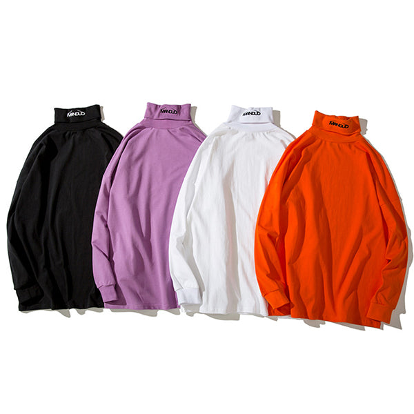 Turtleneck Long Sleeve T-Shirts