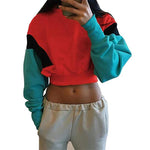 Long Sleeve Loose Crop Top