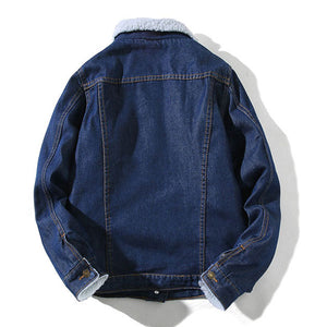 Single Breasted Fleece Denim Jackets
