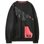 Diagonal Multi-Pockets Pullover Sweatshirts