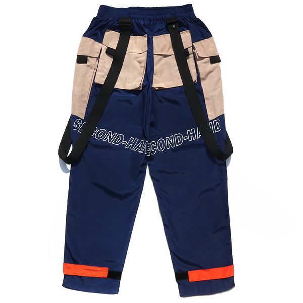 Waist Belt Suspender Pockets Harem Pants