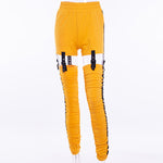 Sunflower Radiance Pencil Pants