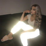 High Waist Night Light Reflective Trousers