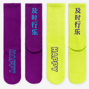 Chinese Printed Long Socks