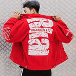 High Street Letter Printing Denim Jacket