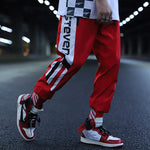 Striped Patchwork Harem Pants