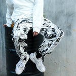 Baggy Graphic Print Joggers