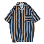 Front Pocket Striped Shirts