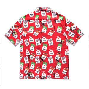 Short Sleeve Marlboro Printed Shirt