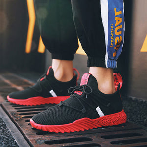 2019 New Breathable Lightweight Shoes Black&Red 39