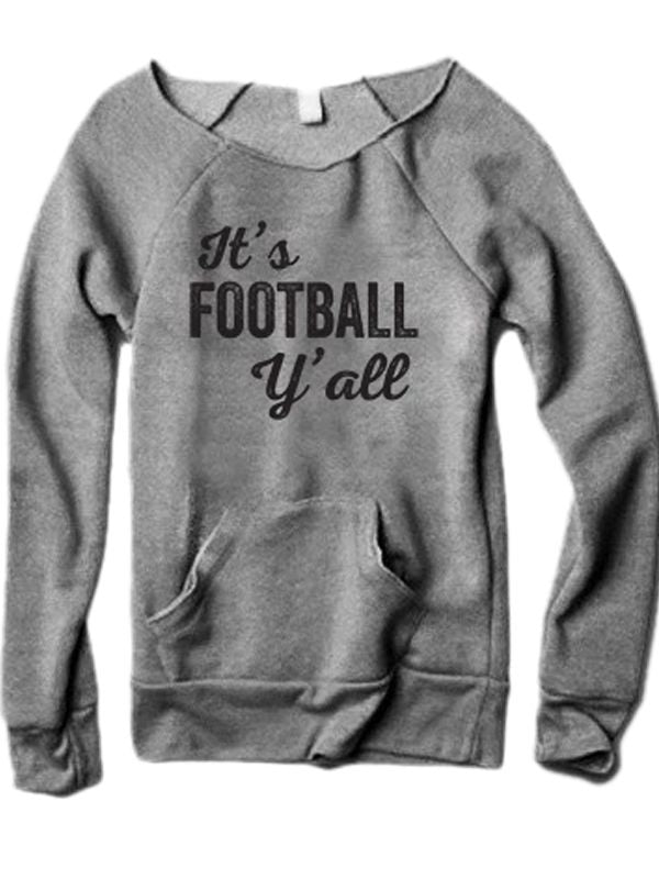 It's Football Y'all Sweatshirt With Pocket