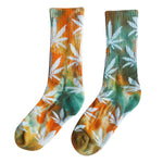 Tie-dyed Hemp Leaves Socks
