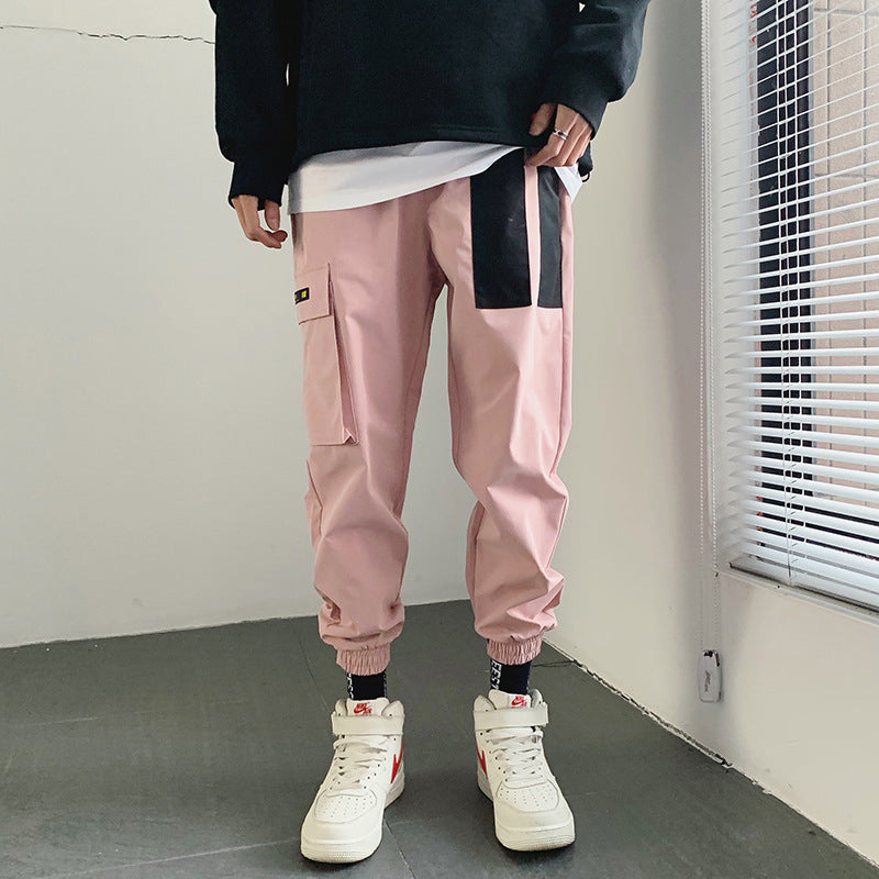 Hip Hop Color Block Cargo Pants